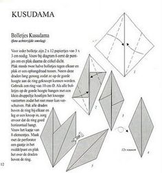 Bruno origami: Kusudama Sol Origami Tower, Crepe Paper, Paper Crafts, Diagram, Craft, Stuff Stuff, Mandalas, Tissue Paper Crafts, Paper Craft Work