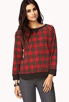 Retro Plaid Sweatshirt