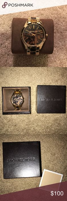 Brand New Michael Kors Tortoise Shell Watch Brand new Michael Kors tortoise shell watch. It comes with the box, extra links, and booklet. Michael Kors Accessories Watches