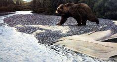 Ron Van Gilder Safe Crossing- Grizzly Bear
