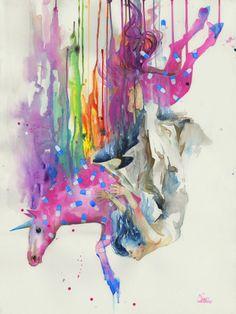 Incríveis pinturas em estilo grunge e aquarela, por Lora Zombie   Ideia Quente