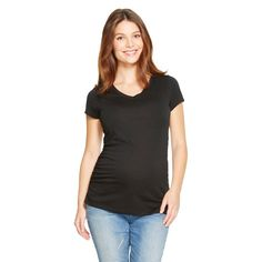 Maternity V-Neck Short Sleeve Tee - Black M - Liz Lange for Target, Infant Girl's