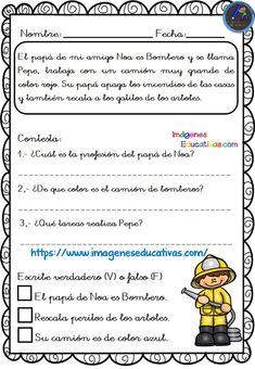 Textos cortos para trabajar la comprensión lectora - Imagenes Educativas Spanish Class, Teaching Spanish, Speech Therapy, Homeschool, Teacher, How To Plan, Education, Reading, Leo