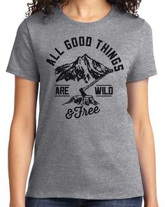 All Good Things Are Wild Free Camping Men's & Women's by idiopix