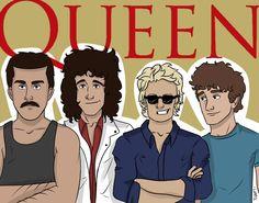 Queen cartoon