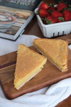 Chess Pie Bars: Perfectly rich, custardy chess pie portioned into bars – perfect for serving just two people!