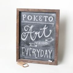 Rustic Chalkboard. Great for scribbling to-do lists, quotes, party menus, and much more. The wooden frame adds a rustic touch. #home #decor
