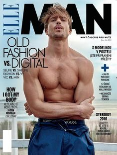 The face of Giorgio Armani Acqua di Giò Profumo, model Jason Morgan snags yet another cover. Talking body with Elle Man Czech, Jason goes shirtless for the magazine's latest cover. Styled by Jan Kralicek, the Male Face, Male Body, Jarrod Scott, Shirtless Hunks, Cover Boy, The Fashionisto, Summer Campaign, Photography Poses For Men, Foto Instagram
