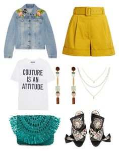 """""""Untitled #2276"""" by filipaloves ❤ liked on Polyvore featuring Gucci, Isa Arfen, Moschino, Mar y Sol and Henri Bendel"""