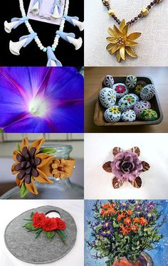 """Fantastic Floral Finds"" by ADragonflysFancy --Pinned with TreasuryPin.com"