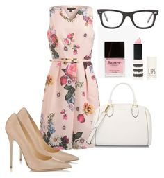 Monday2 by astoldbyalaina on Polyvore featuring Ted Baker, Jimmy Choo, CHARLES & KEITH, Ray-Ban, Topshop and Butter London