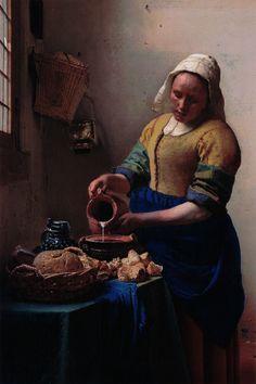 The Milkmaid by Johannes Vermeer - canvas print