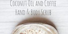 Make and all natural body and hand scrub from coconut oil and leftover coffee grounds from cupcakesandcrinoline.com