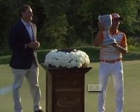 In the final round of the 2015 Deutsche Bank Championship, Rickie Fowler comes from behind to overtake Henrik Stenson coming down the stret. Rickie Fowler, Golf Pga, Highlights, News, Blog, Deutsch, Luminizer, Blogging, Hair Highlights