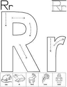 Alphabet Letter R Worksheet  Standard Block Font  Preschool