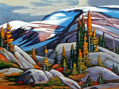 Northern Rocky Mountain Provincial Park ~ by Nicholas Bott, Canadian Artist Canadian Painters, Canadian Artists, Abstract Landscape, Landscape Paintings, Landscapes, You Draw, Paintings I Love, Painting Inspiration, Painting & Drawing