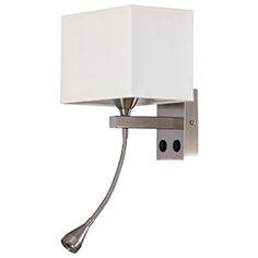 Aplique de 2 luces con lector DOBLE - Leroy Merlin