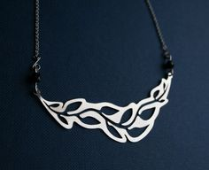 Leaf Necklace stainless steel necklace by HorakovaDesigns on Etsy, $25.00