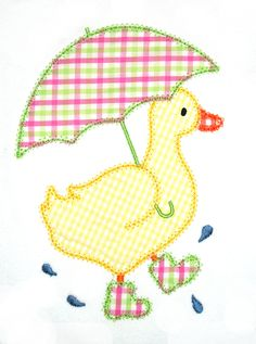Duck Machine Applique Design by AppliqueChick on Etsy - veganfunnelcake Machine Applique Designs, Applique Templates, Applique Embroidery Designs, Machine Embroidery Applique, Applique Patterns, Applique Quilts, Hand Embroidery, Quilt Patterns, Sewing Patterns