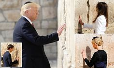 Donald Trump on Monday became the first sitting U.S. president to visit the holiest site where Jews can pray – and he left a prayer note there in accordance with Jewish custom.