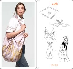 Turn your scarf into a bag. | 19 Amazing Ways To Twist, Tie And Style Your Scarf