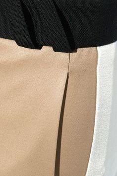 Pallas - Aspen Paneled Satin And Wool Wide-leg Pants - Sand - FR