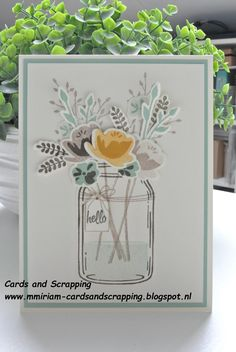 Stampin Up Jar of Love card from 2016-17 annual catalogue