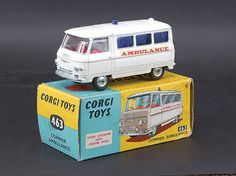 Mettoy Corgi diecast No.463 Commer Ambulance 1964-66