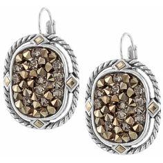 Crystal Rocks Leverback Earrings