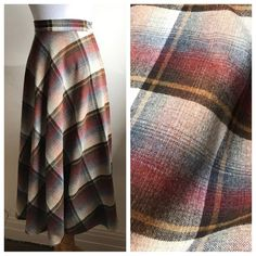 Your place to buy and sell all things handmade 70s Hippie, Vintage Hippie, Retro Vintage, Plaid Pleated Skirt, Plaid Skirts, Tartan Plaid, Plaid Scarf, Hippie Skirts, Winter Skirt