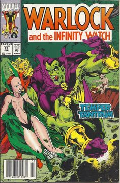 1993 Marvel Comic Book: Warlock & the Infinity Watch Dc Comics, Marvel Comics Superheroes, Marvel Comic Books, Comic Book Characters, Comic Character, Adam Warlock, Marvel Movie Posters, Marvel Movies, Marvel Comic Universe