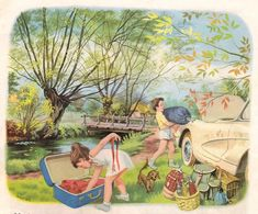 Tini Berkemah (Martine fait du camping) (this sunday child) Tags: vintage children storybook martine bookscan marcelmarlier Marcel, Sweet Drawings, Art Drawings, Vintage Children's Books, Vintage Cards, Sundays Child, Illustration Photo, Vintage Fairies, World Best Photos