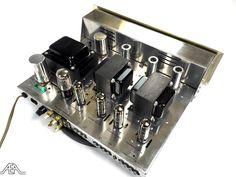 A freshly cleaned Scott LK-30 tube amplifier. www.aeaaudio.com #audiophile #tubeamp Power Supply Circuit, Hi End, Vacuum Tube, Audio Equipment, Audiophile, Fisher, Music, House, Vintage