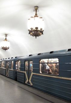 The Moscow subways were designed to be a way to promote the Soviet/Russian way of life and history if there was a nuclear war. They are deep and could serve as bomb shelters. Each station I have been to is like a mini museum that showcases different aspects of Russian/Soviet history.