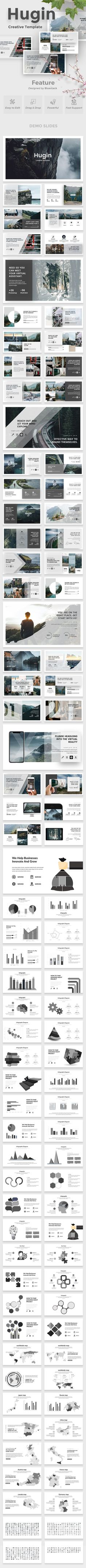 Buy Hugin Creative Powerpoint Template by bluestack on GraphicRiver. Features: Aspect Ratio no more broken images! Easy and fully editable in PowerPoint (shape color, size, position. Slide Template, Layout Template, Keynote Template, Web Design, Page Design, Graphic Design, Layout Design, Creative Design, Presentation Design