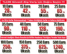 Ukash Kart Fiyatları