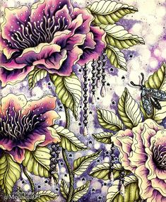 Coloured Pencils, Color Shades, Coloring Books, Coloring Tips, Adult Coloring Pages, Colorful Pictures, Hanna Karlzon, Book Flowers, Colored Pencil Tutorial