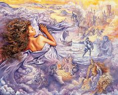 Josephine Wall, worth clicking on twice to view in more detail. as with most Josephine walls' as with GOD AND LORD SIR MATT NOYES