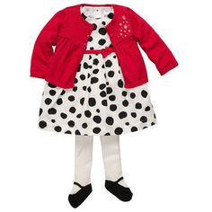Starry Nights baby girl holiday outfit from Carters