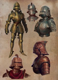 ArtStation - Metal Boys and Skate Knights, Ben Hale Armor Concept, Game Concept Art, Character Concept, Character Art, Medieval Knight, Medieval Armor, Medieval Fantasy, Armadura Medieval, Fantasy Armor