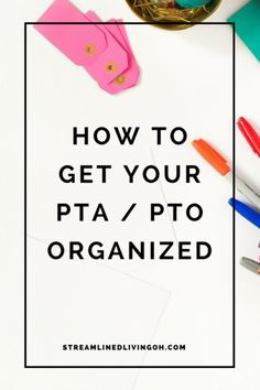 Look no further for the best tips on how to keep your PTA or PTO organized. Great advice for new presidents!
