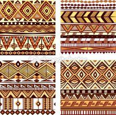 окрасьте бесшовную племенную структуру — Векторная картинка #56652929