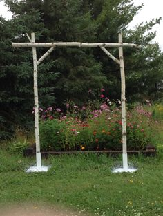 Used wedding rustic arbor arch trellis alter birch wood for sale in Birch Wedding, Rustic Wedding, Simple Wedding Arch, Wedding Ideas, Wood Wedding Arches, Quirky Wedding, Wedding Quotes, Timeless Wedding, Boho Wedding