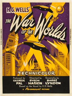 """The War of the Worlds (Paramount, 1953). Poster (30"""" X 40"""") Style Y."""