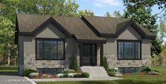 Maison Nordique - Maisons usinées - Style PLAIN-PIED modèle KATRINA Exterior Colors, Home Deco, My Dream Home, House Plans, Shed, Outdoor Structures, House Design, Facade, How To Plan