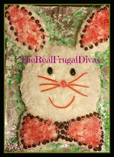 The making of an #EasterBunnyCake - this is something I grew up making with my Mother.  Hope you Enjoy!