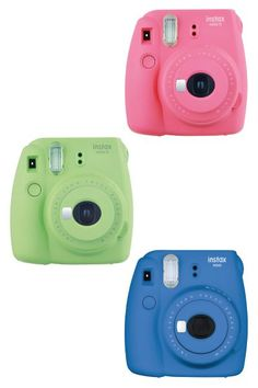New Fujifilm Instax Mini 9 Instant Camera. Colorful, fun, improved features. (Electronics Gadgets Tech Gifts for Teens)