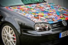 "Sticker Bomb is a style of optical tuning, where the graffiti world, in America and Japan already quite popular. The ""bombing"" of a part of a car or motorcycle with hundreds of stickers. Delivers a strikingly colorful whole."