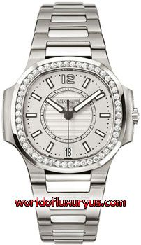 7008-1A-011 - This Patek Philippe Nautilus Womens Watch, 7008-1A-011 features 33.60 mm Stainless Steel case, Silver dial, Sapphire crystal, Fixed bezel, and a Stainless Steel Bracelet. Patek Philippe Nautilus Womens Watch, 7008-1A-011 also features Automatic Movement, Analog display, Date at 6 o'clock. This watch is water resistant up to 50m / 165ft. - See more at: http://www.worldofluxuryus.com/watches/Patek-Philippe/Nautilus/7008-1A-011/46_58_8057.php#sthash.dtZgyaRC.dpuf