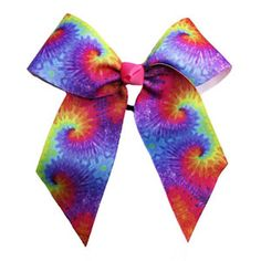 In Stock Tie-Dye Hair Bow by Cheerleading Company